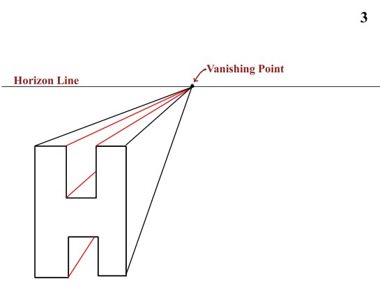 one point perspective H 1b
